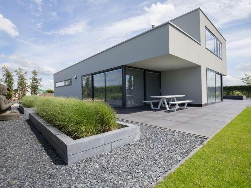 Moderne gestucte villa