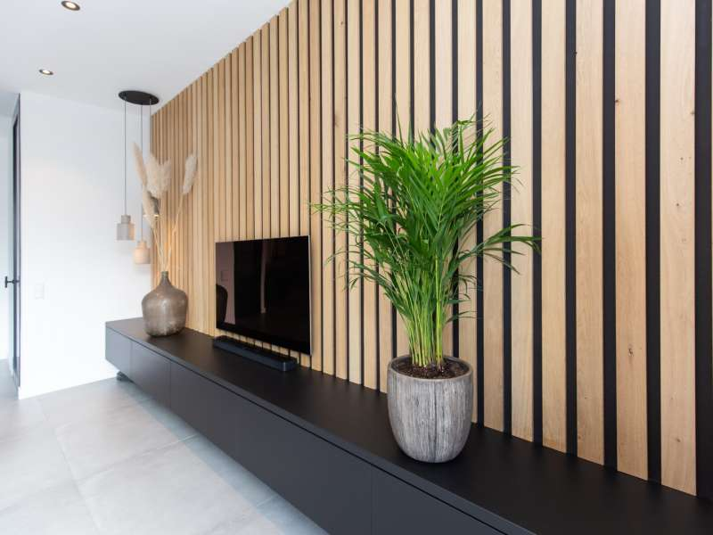 Warm, modern interieur