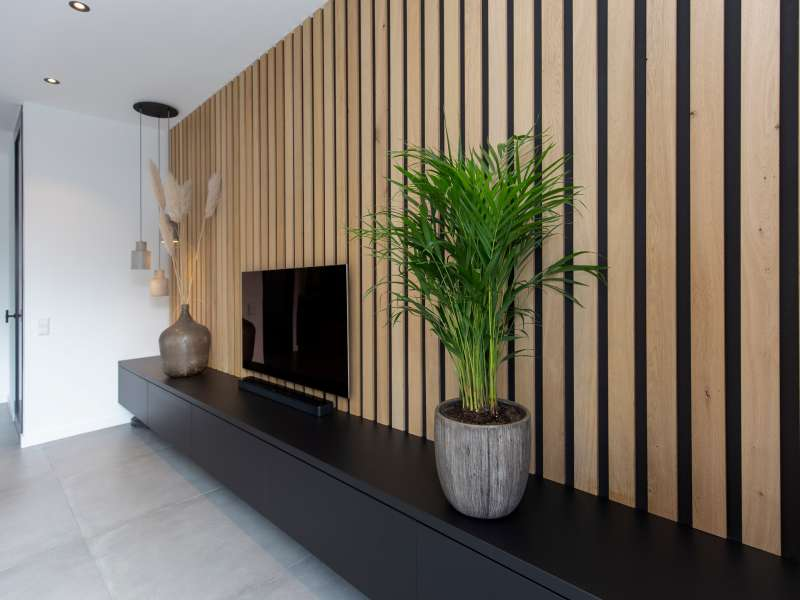 Warm, modern interieur